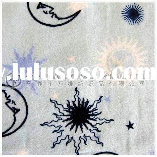 wholesale 100 cotton flannel fabric print for children bedsheet