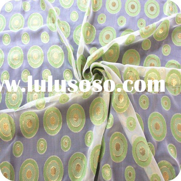 wholesale green yarn dyed silk fabric
