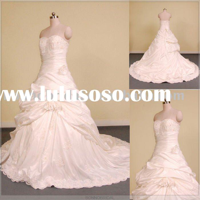 2011 New Lace Beaded Wedding Dress/ Lace Beaded Wedding Gowns/ Lace Beaded Bridal Gowns Bonnobridal0