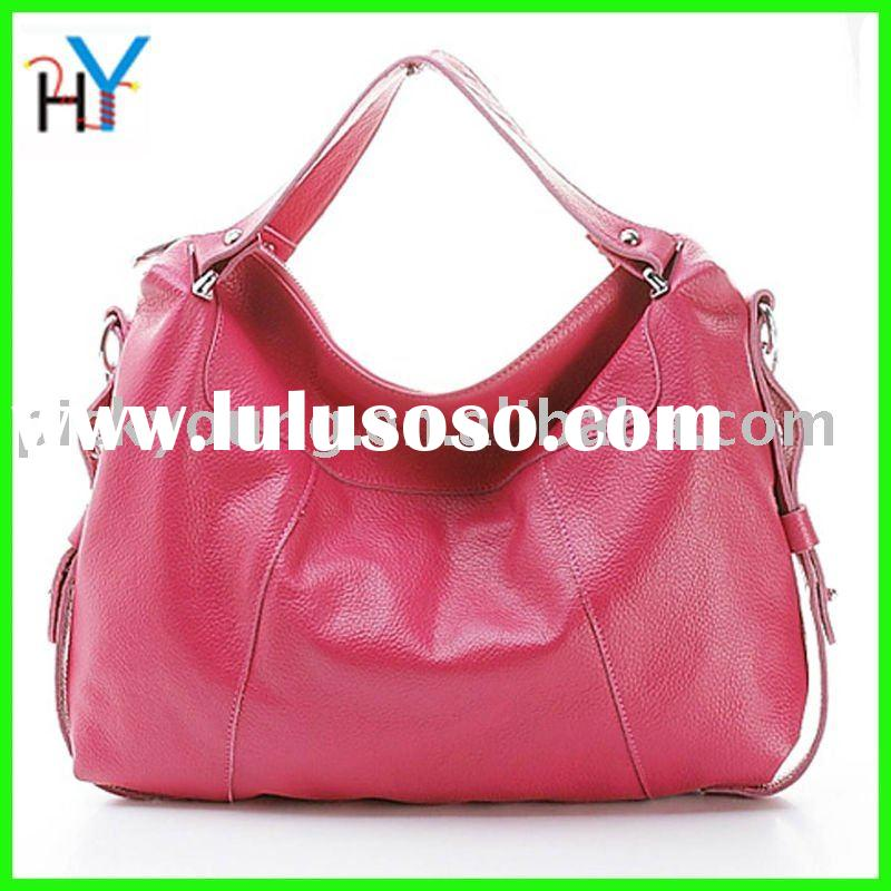 2011 lady's  brilliant colors real leather handbags,free shipping