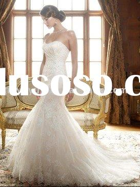 2011 new designer boutique mermaid style lace wedding dresses CBW-002