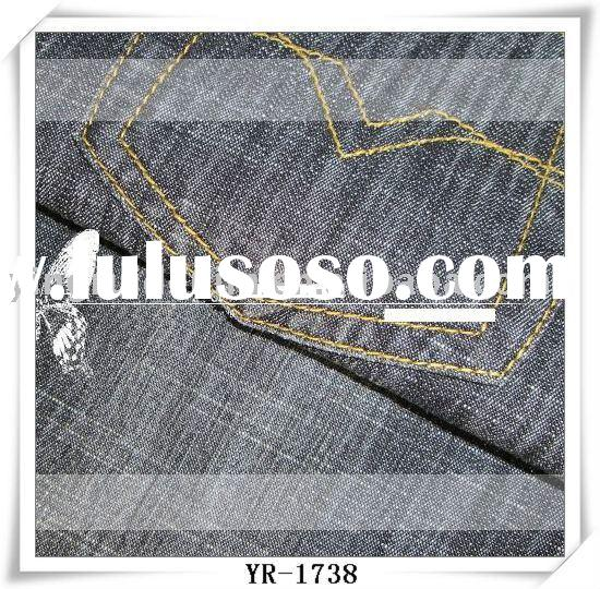 6.5oz cotton polyester spandex denim fabric