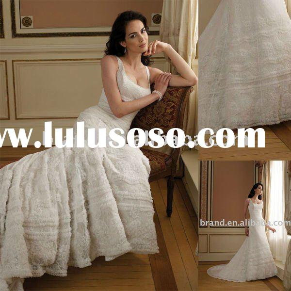 New Arrival A-ine Bateau Chantilly Lace 111203 Style Wedding Gown