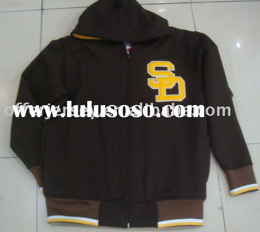 New Top Quality! HOT! ARRIVED SAN DIEGO PADRES baseball HOODED FULL ZIP JACKET SEWN LARGE-XXXL