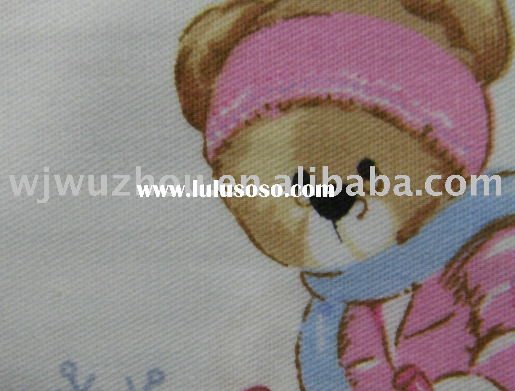 TPU laminated printed cotton baby diaper fabric/waterproof and breathable napkin fabric
