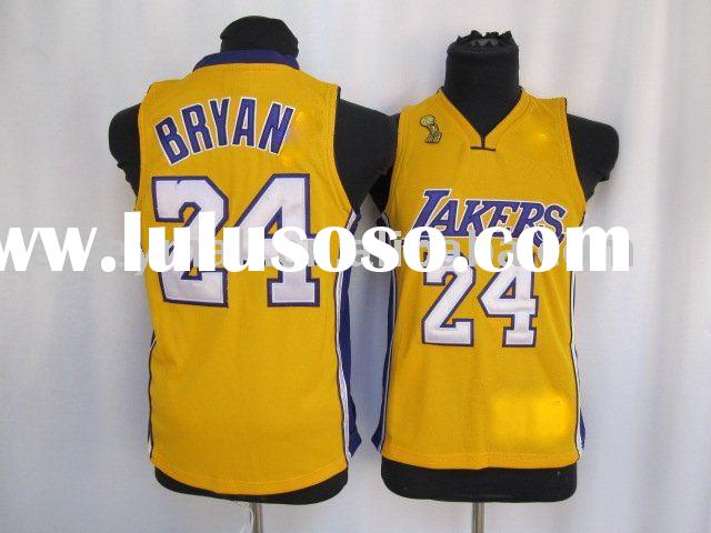 Wholesale 2010 hottest Los Angeles Lakers youth basketball jerseys