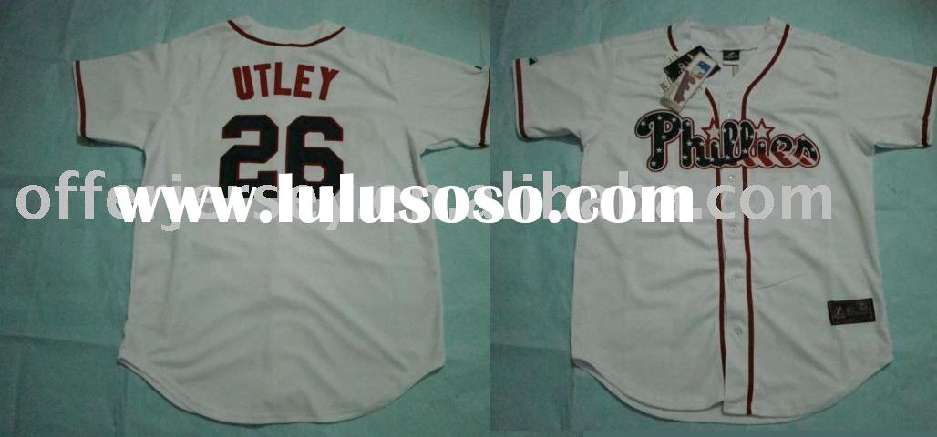 $21~$25 - NEW Style Jersey Philadelphia Phillies #26 Chase Utley Stars & Stripes Authentic White