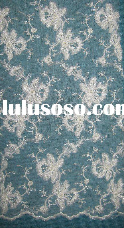 fashion french lace fabric for bridal dress