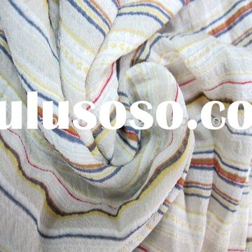 printed polyester fabric/ crepe