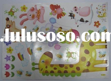 Animal Paradise PVC Wall Sticker for Kids Room Decoration