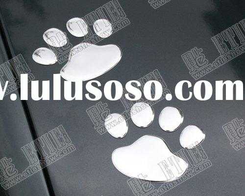 Cool bear puppy footprints 3D colour stickers and decals