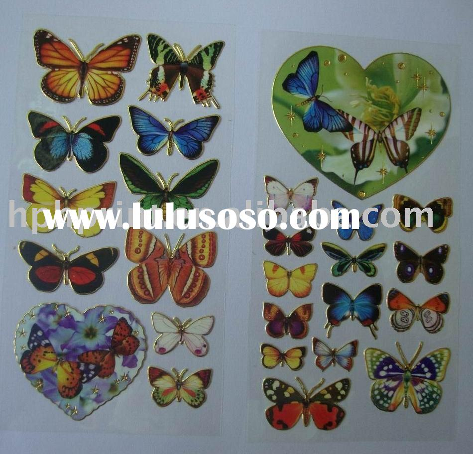 Cute Butterfly Self-adhesive Foil Vinyl Stickers