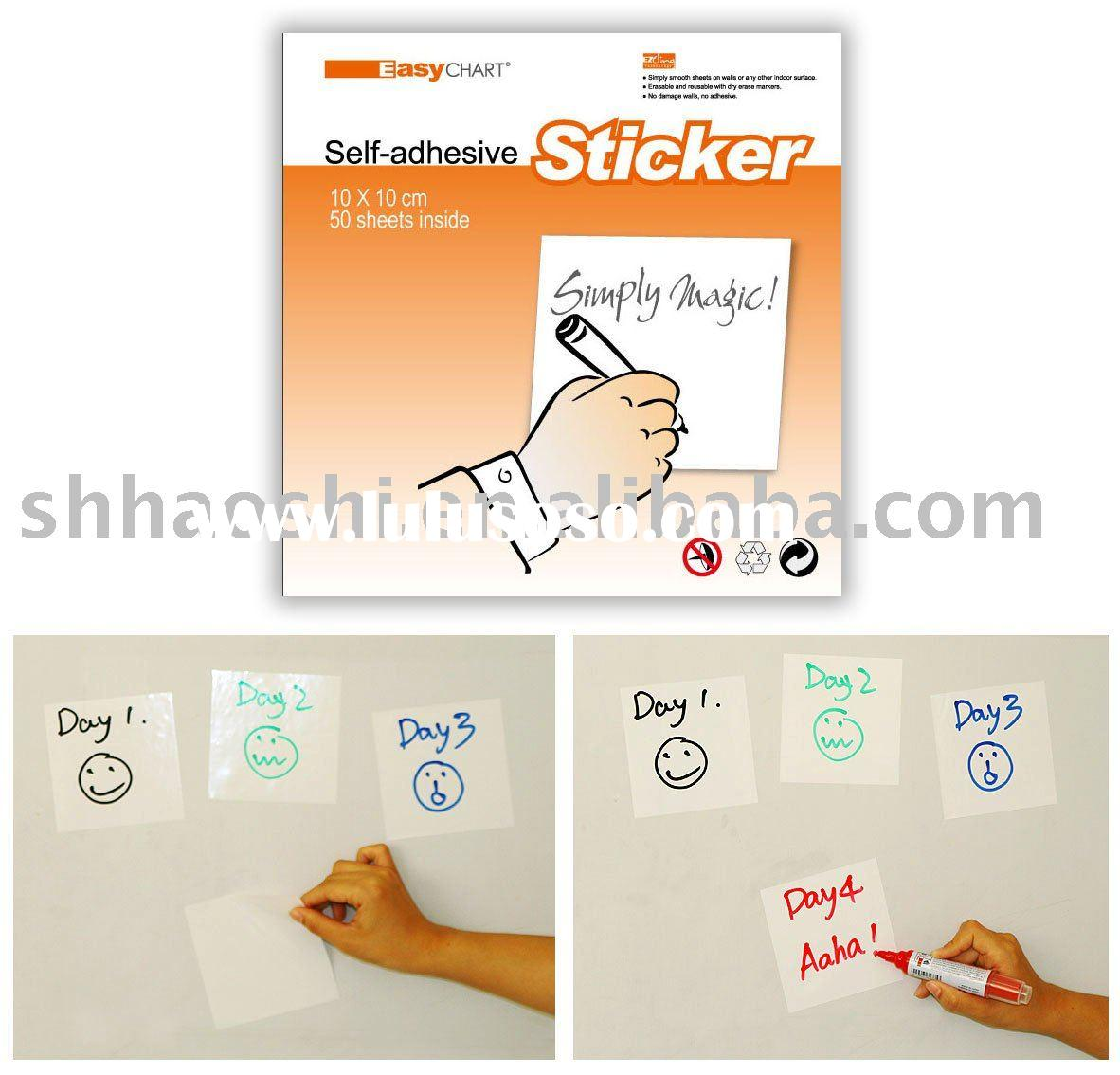 EasyCHART Self-Adhesive Sticker,whiteboard in sheets, OEM Product