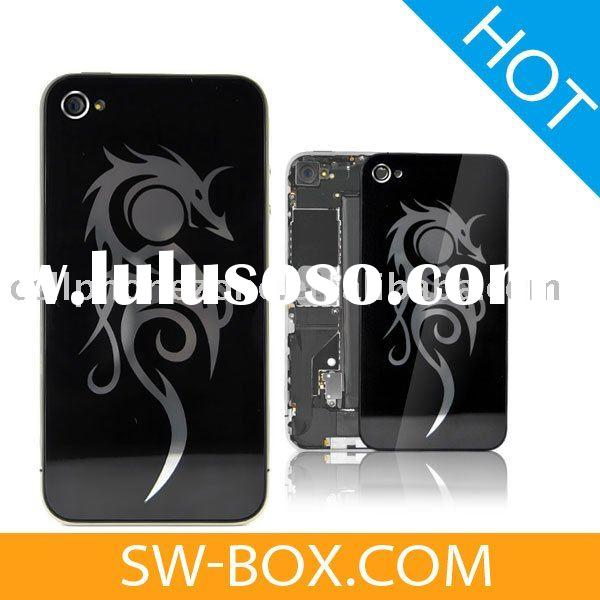 For iPhone 4 Dragon Plastic Back Cover - Black /for apple iphone 4 back cover