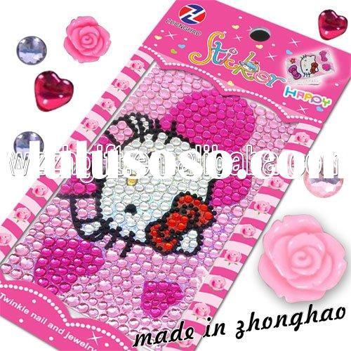 Hello Kitty cell phone crystal sticker