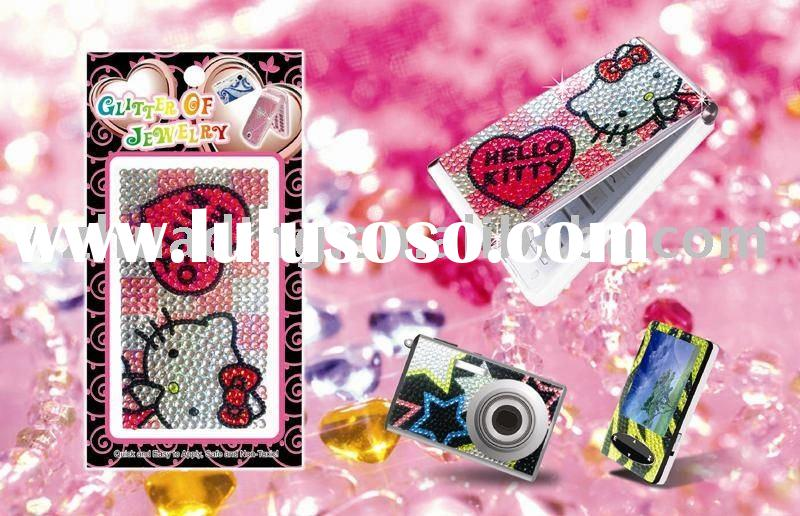 Hello kitty bling sticker for mobile