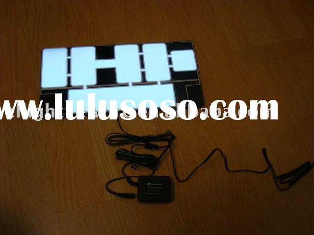 Japanese number plate,EL Car Sticker,EL sheet,EL light,EL auto sticker,electroluminescent panel,el p