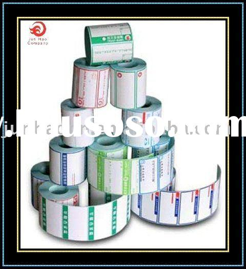 Roll label or self-adhesive sticker