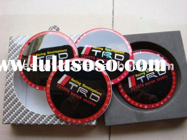 car sticker for wheel cap with TRD RACING DEVELOPMENT logo