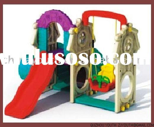 children slide,swing,outdoor playground,kids plastic slide,swing,amusement park ,YSTQ-128B