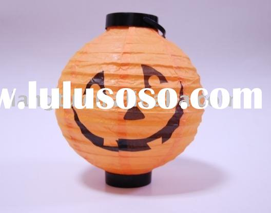 halloween pumpkin battery paper lantern