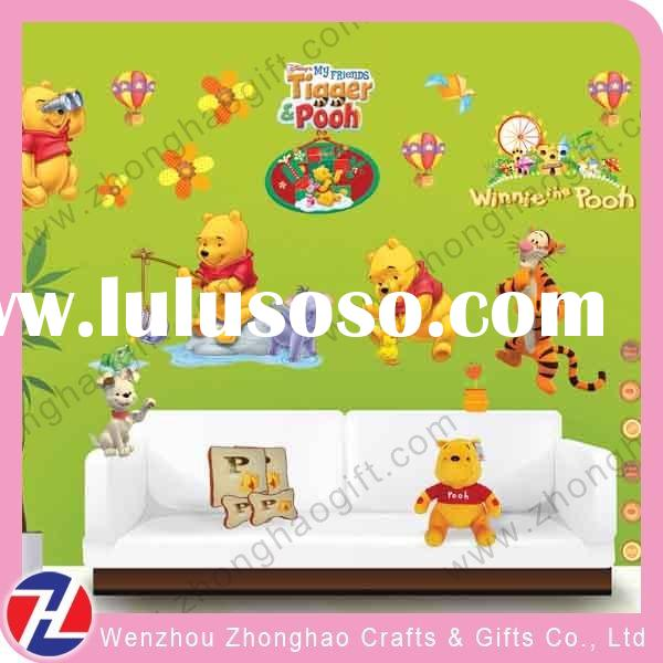 lovely cartoon decorative wall sticker for kids room decor