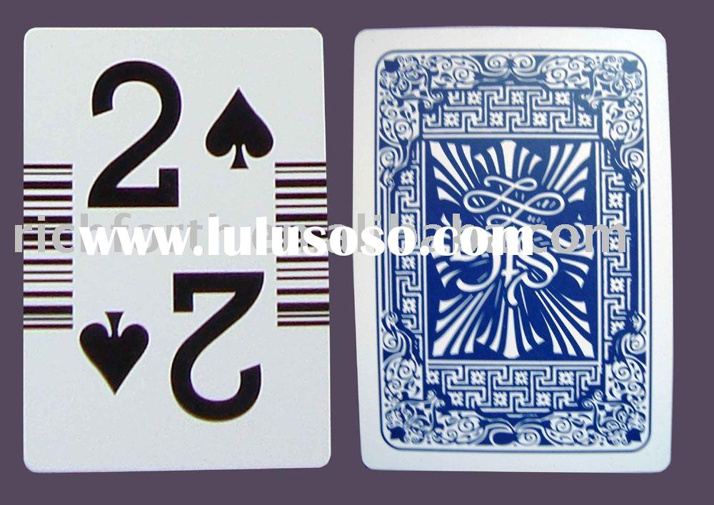 playing cards, big index with bar code, paper box per deck, RFM881-1796