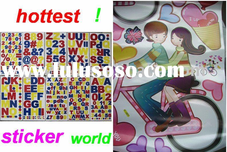 sticker/wall sticker home decor/3d/vinyl/pvc/bathroom wall tile/laptop/adhesive/paper/motor/window/l