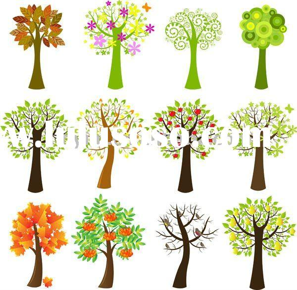 wallcovering  Trees (Giant Removable Wall Stickers)