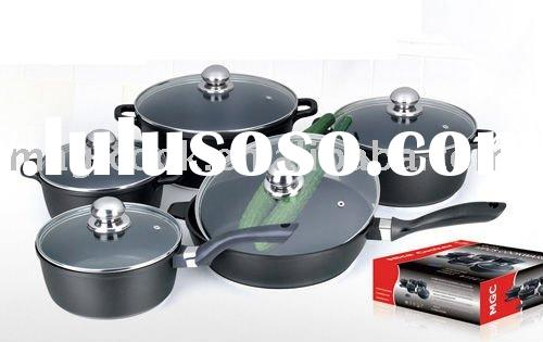 10 pieces aluminium cookware set