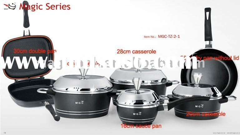 10 pieces magic aluminium cookware set