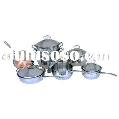 12 piece copper bottom cookware set