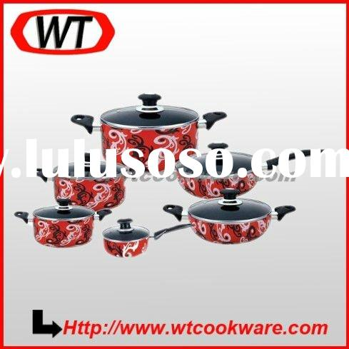 12pcs Aluminum nonstick enamel Cookware Set