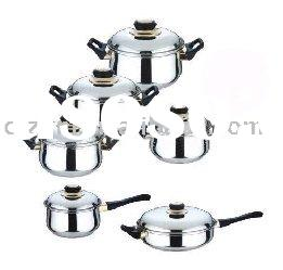 12pcs non-stick cookware set with capsuled bottom