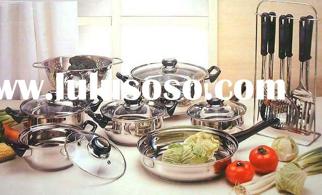19-pc stainless steel cookware set