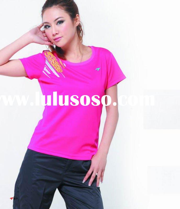 2011 fashion lady polyester 100%cotton t shirt printer sportswear in Guangzhou