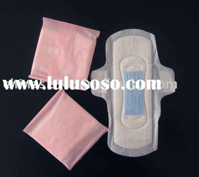 260mm ultra thin feminine Sanitary napkins with wings