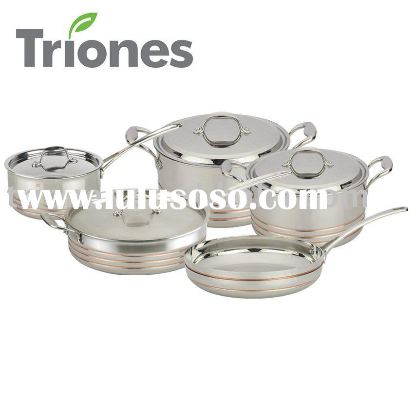 5-PLY Stainless Steel Aluminum Copper 9PCS  set