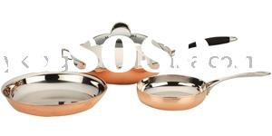 5-ply Stainless Steel and Copper Compound Frying Pan 4pcs/Set