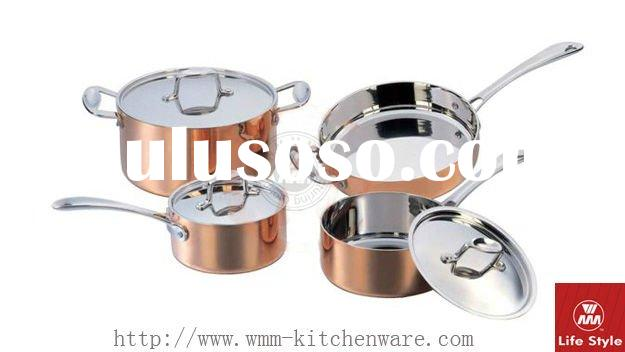 7Pcs copper clad cookware set