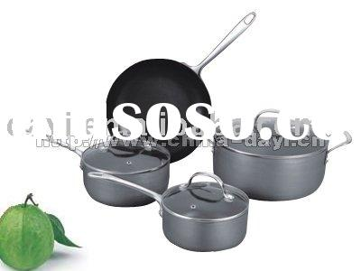 7 pcs hard anodized cookware set DY-R-71