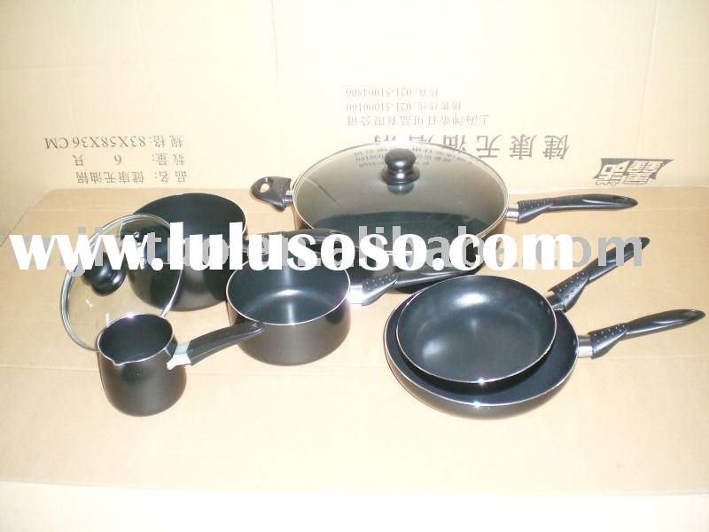 8 pc aluminium non-stick cookware set