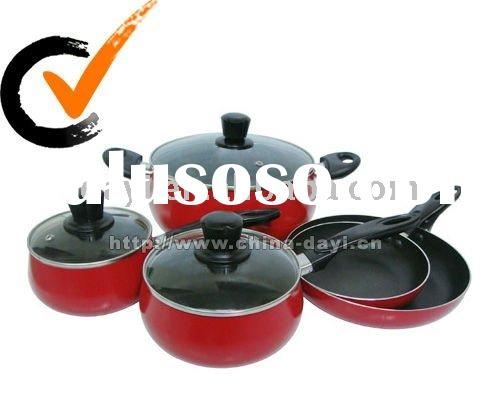 8 pcs aluminum belly shape nonstick cookware set DY-3127
