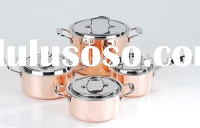8pcs copper cookware set