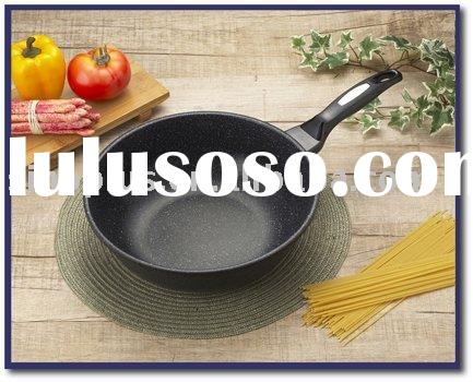 Aluminum Marble Teflon Coating Non-stick Wok Cookware Set