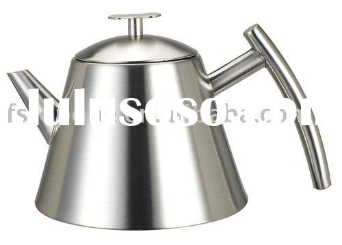 Stainless steel tea pot with strainer