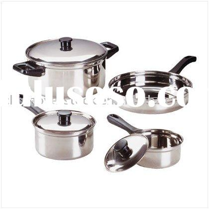 Stocklot/Stock lots 7 pieces stainless steel cookware set