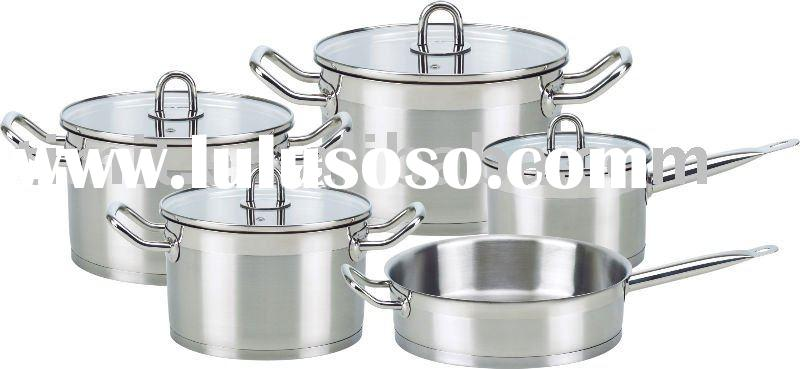 cookware set stainless steel with non-stick