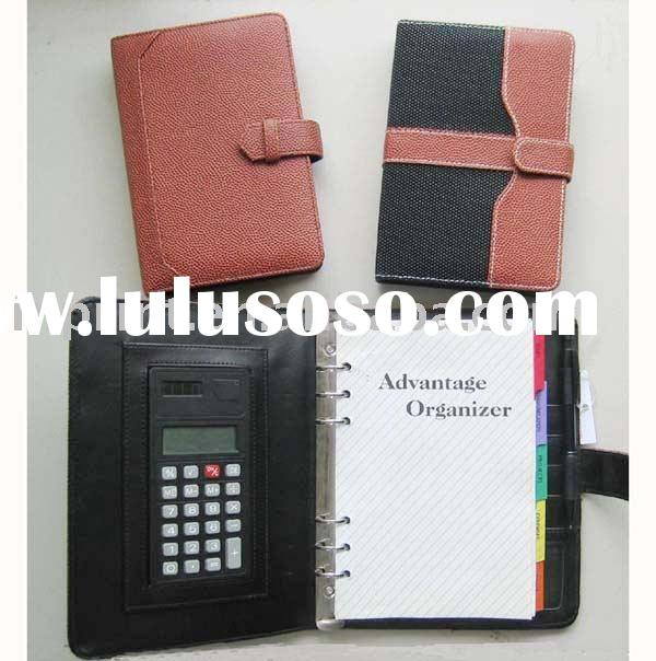 notepad holder(writting pad,agenda with calculator)