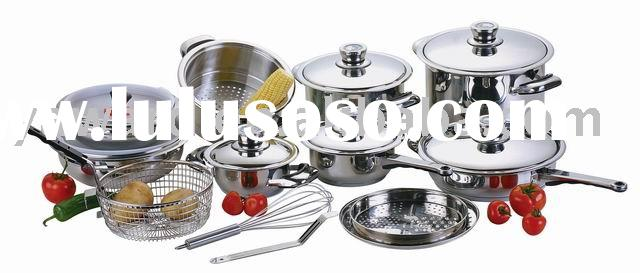 stainless steel cookware set 22pc YWD-001